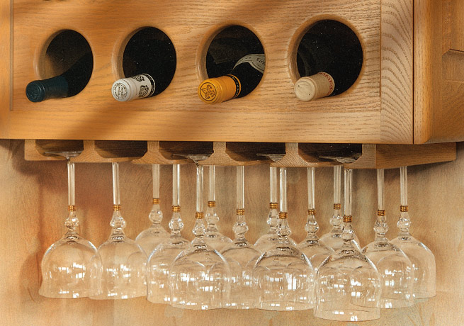 wine rack plans with glass holder