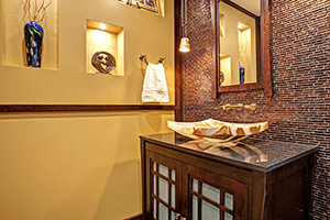 Drama in Small Spaces: Powder Room Perfection for Your Whole Home Remodel