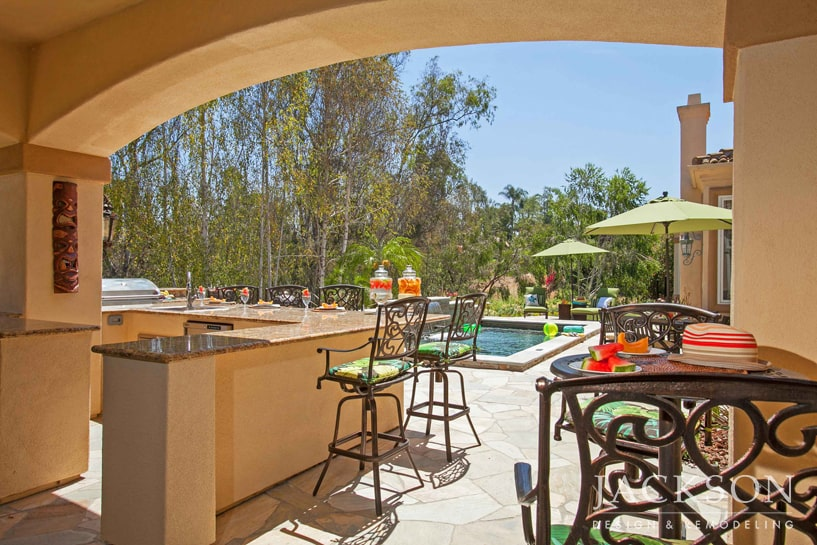 This Expansive Outdoor Living Area Was Designed For Family Oriented Clients  To Welcome Their Kids And Grandkids. Areas For Cooking Meals, Enjoying  Drinks ...