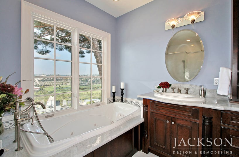 Master Bathroom History traditional bathrooms in san diego - jackson design & remodeling