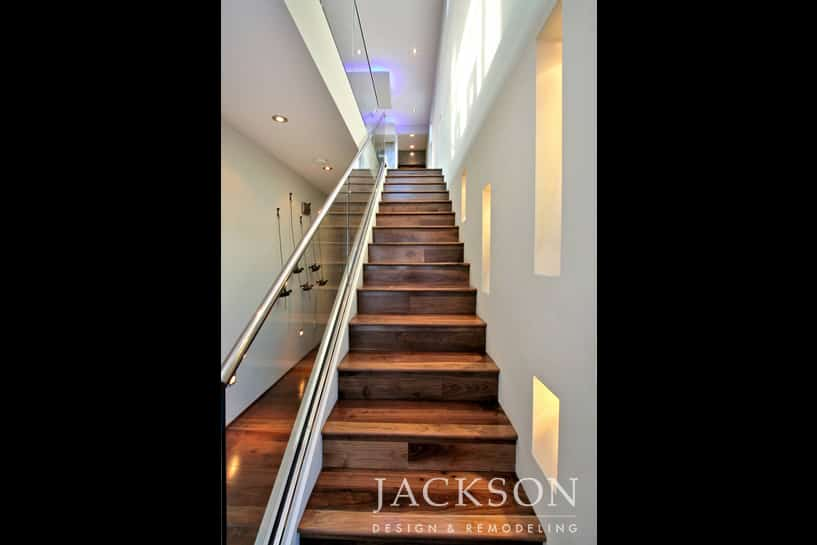 Perfect A Staggered Row Of Glowing Niches Invites Ascent To The Upper Level Of This  Award Winning Contemporary Home. Solid Wood Stairs Are Balanced With A  Clear ...
