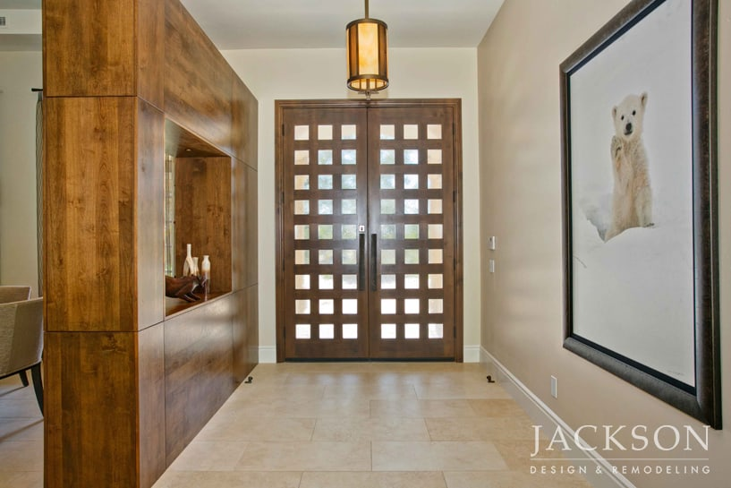 Solid, Luxurious Materials Are Combined With A Subtle Zen Inspired Design  In A Set Of Front Doors That Welcomes Entry With Refined Grace And Style.