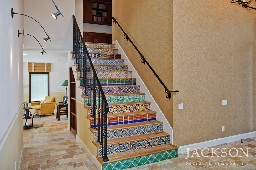 Nice This Vivid Stairway Makes A Powerful Statement In The Entryway Of An  Elegant, Award Winning Retreat For An Artistic World Traveler.