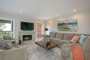 On Super Bowl Sunday a Comfortable Family Room Scores Big in a Whole Home Remodel