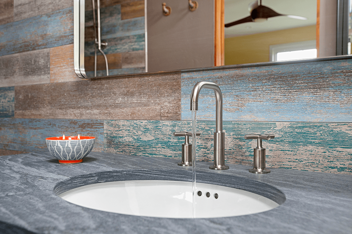 Make a Splash! Choose an Imaginative Bathroom Backsplash for Your New Home or Whole Home Remodel