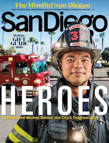 San Diego Magazine December 2018 Cover